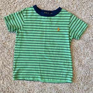 5/$25 Polo Blue and green striped shirt